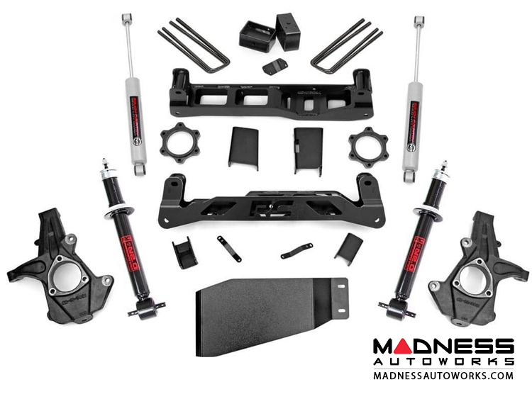 "Chevy Silverado 1500 4WD Suspension Lift Kit w/ Premium N3 Shocks & Struts - 5"" Lift"